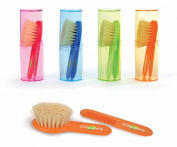 Jane Brush and Comb set , Super Soft - Green