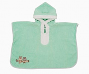Slumbersac Kids Bath Poncho Towel Mint Owl