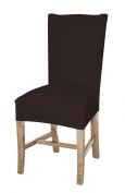 Bellboni - chair cover, fitted cover, fitted chair cover, bi-elastic, stretch, brown chocolate