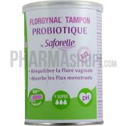 Saforelle Florgynal Probiotic Compact Applicator Tampon 9 Super
