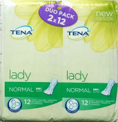 Tena Lady Normal Duo Pack - (2 x 12) x 1