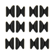 Homgaty 5 Pairs Non-slip Silicone Air Chamber Nose Pads For Glasses Sunglasses Black