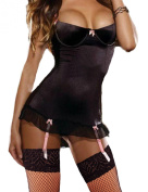 Yummy Bee Plus Size 8-30 Lingerie Satin Babydoll Chemise Suspenders Satin Set Lingerie G String