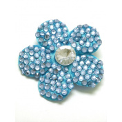 GIZZY® Ladies / Girls Diamonte Stone flower Set on Hair Clip