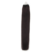 Beauty7 100 strands Loop Micro Ring Remy Human Hair Extension loop hair extension Fashion Hair Colours Natural Black(#1B),Straight Hair Style 100g Weight 1g/strand