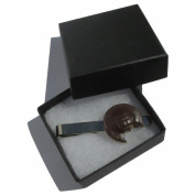 Handmade Fimo Fun Yummy Mini Jaffa Cake - Tie Pin Clip/Slide - Gift Boxed
