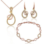 Brand quality 18 k rose gold drops three suits