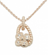 Orphelia Women's Necklace Gold-Plated Silver Zirconia White ZH - 6020 / 1