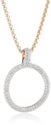 Esprit Women's Necklace 925 Sterling Silver Rhodium-Plated Cubic Zirconia Peribess ELNL93009A420 Bronze-Coloured