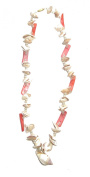 African Multi-colour Shell Party Necklace - Hand crafted - Pink