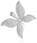 Pasionista Women's Pendant 925 Sterling Silver Rhodium-Plated Zirconia White 612089