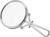 Linos- Chrome Freestanding or Hand Held Vanity Mirror 3x Magnification