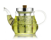 Glass Teapot with Removable Stainless Steel Infuser and Coil Filter - 700ml