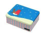 JOHN HANNA Deep Rectangular Christmas Storage Tin