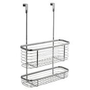 Double Shelf Over Cabinet Basket Bathroom Shower Rack Caddy Storage Organiser