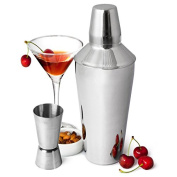 Manhattan Martini Cocktail Shaker Set - Steel Cocktail Making Kit with Shaker with Jigger Measure