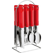 24 PC CUTLERY SET HIGH QUALITY STAINLESS STEEL WITH TRAY/STAND