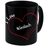 "Mug with ""I Love Wiesloch Modern Black"