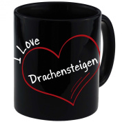 "Mug with ""I Love Drachensteigen Modern Black"