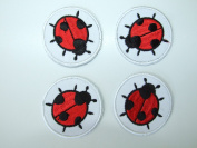 Cute Ladybird Set Iron on Sew on Embroidered Badge Applique Motif Patch