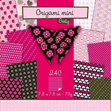 240 sheets Origami Paper in 7.5 x 7.5 CM-Girly