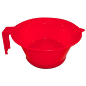 HAIRART Tint Bowl with Handle Non-Slip Bottom Red 12302