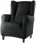 Eysa 1-Square Sucre Wing Chair, Grey
