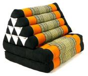 2 Fold Thai Mat with XXL Jumbo Triangle Cushion / Headrest & 100% Kapok Filling