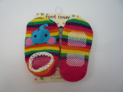 Stripey Elephant - Baby Childrens Slippers Anti Non Slip Sock Shoes