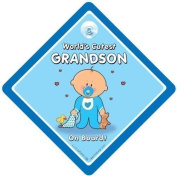 World's Cutest Grandson On Board, Car Sign, Baby On Board Sign, baby on board, Novelty Car Sign