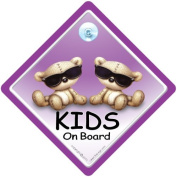 Kids on Board Car Sign, Baby on Board Sign with Suction Cup, Baby on Board with Sunglasses, Baby on Board with Shades Car Sign, Child on board, Children on Board Car Sign, Car Window Sign, Grandchildren On Board Car Sign