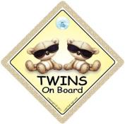 Twins On Board, Twins On Board Car Sign, Twins On Board Sign, Brown Shades, baby on board, Baby Car Sign, Baby on Board Car Signs, Twins Car Sign, Twins On Board Car Signs, Baby Car Safety Signs