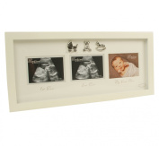 Triple Baby Scan Photo Frame Gift With 3D Icons
