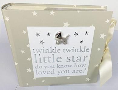 Mum To Be Present Baby Shower Gift Favour Mummy Unisex Keepsake-'Twinkle' Photo Album