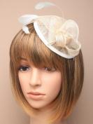 Allsorts® Large Cream Hat Aliceband Fascinator Weddings Ladies Day Race Royal Ascot