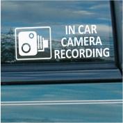 5 x Small In Car Camera Recording Window Stickers-87mm x 30mm-CCTV Sign-Van,Lorry,Truck,Taxi,Bus,Mini Cab,Minicab