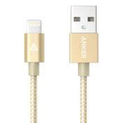 [New Release] Anker 0.9m Nylon Braided USB Cable with Lightning Connector [Apple MFi Certified] for iPhone 6 / 6 Plus, iPad Air 2 and More