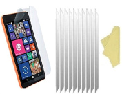 teKKno® [PACK OF 10] MICROSOFT LUMIA 535 LCD Screen Protectors Guards And Cleaning Cloths