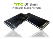 Textured Black Carbon Fibre Skin Sticker Wrap cover for HTC One Mini M4 ...NOT CASE