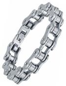 Stainless Steel Men's Biker Bicycle Chain Polished Link Bracelet 20cm G7035TJ