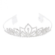 Bride Bridesmaid Flower Girl's Tiara Headband Crown with Comb Style 004