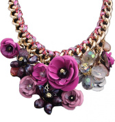 Andyshi Women Funky Clothing Accessories Flower Chunky Chain Collar Choker Necklace
