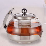 Large 1.2 Ltr Glass Infusion Teapot Tea Pot Infuser Contemporary Kitchen Design