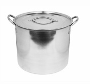 11 Litre Deep Mirror Polished Stainless Steel Casserole Dish Pot Stockpot & Lid