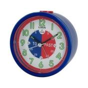 BRAND NEW LORUS TIME TEACHER BEDSIDE BEEP ALARM CLOCK BLUE CHILDREN KIDS BOYS