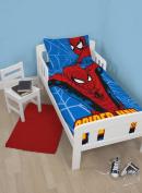 character world Disney Spiderman Ultimate Parker Junior Panel Duvet Set, Multi-Colour