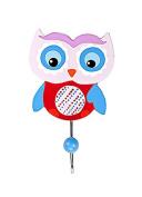 Owl Themed Single Children's Coat Hook Wall Hook for Nursery or Bedroom