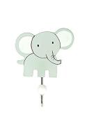 Grey Elephant Single Wooden Wall Hook Coat Hook for Girls or Boys Nursery or Bedroom