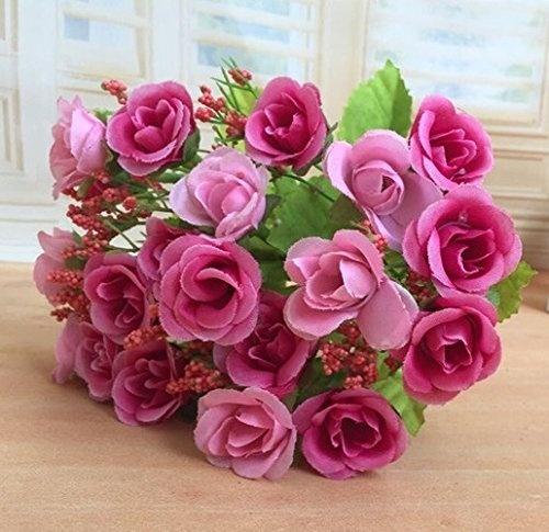 7 Bouquet Of 21 Heads Pink Artificial Flowers Artificial Flowers