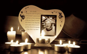 His Smile Memorial Poem & Photo Candle Holder